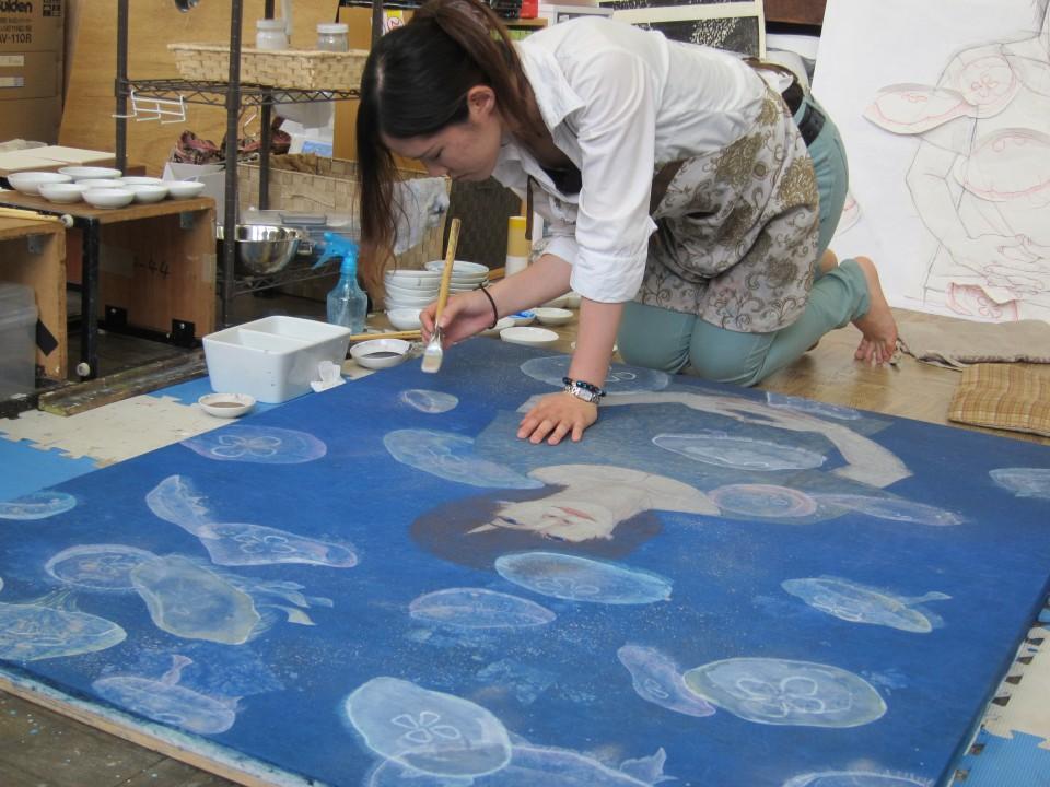 絵画制作風景 « 美術学部日本画専攻 | 美術研究科日本画領域 ≪ 愛知県立芸術大学
